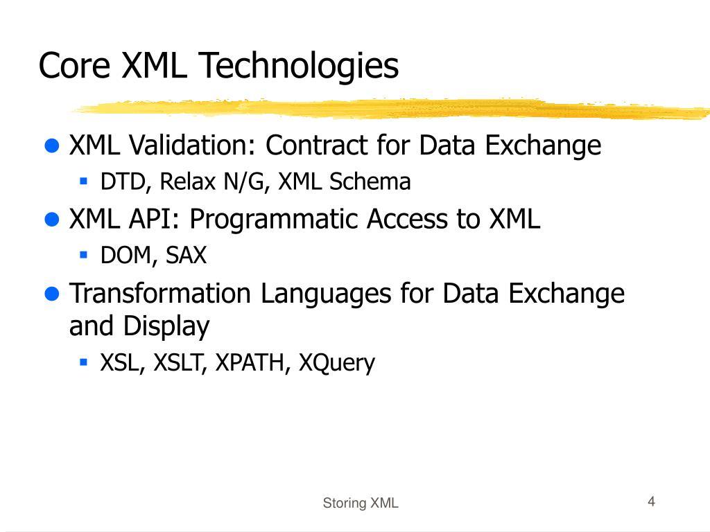 Core XML Technologies