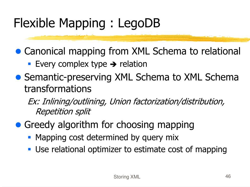 Flexible Mapping : LegoDB