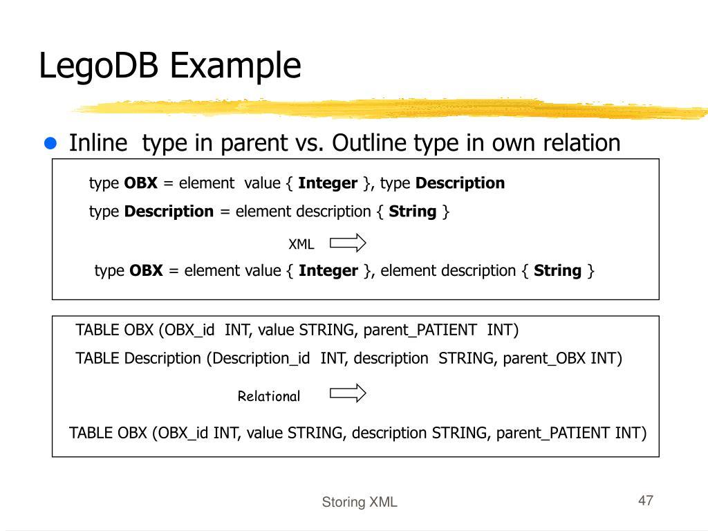 LegoDB Example