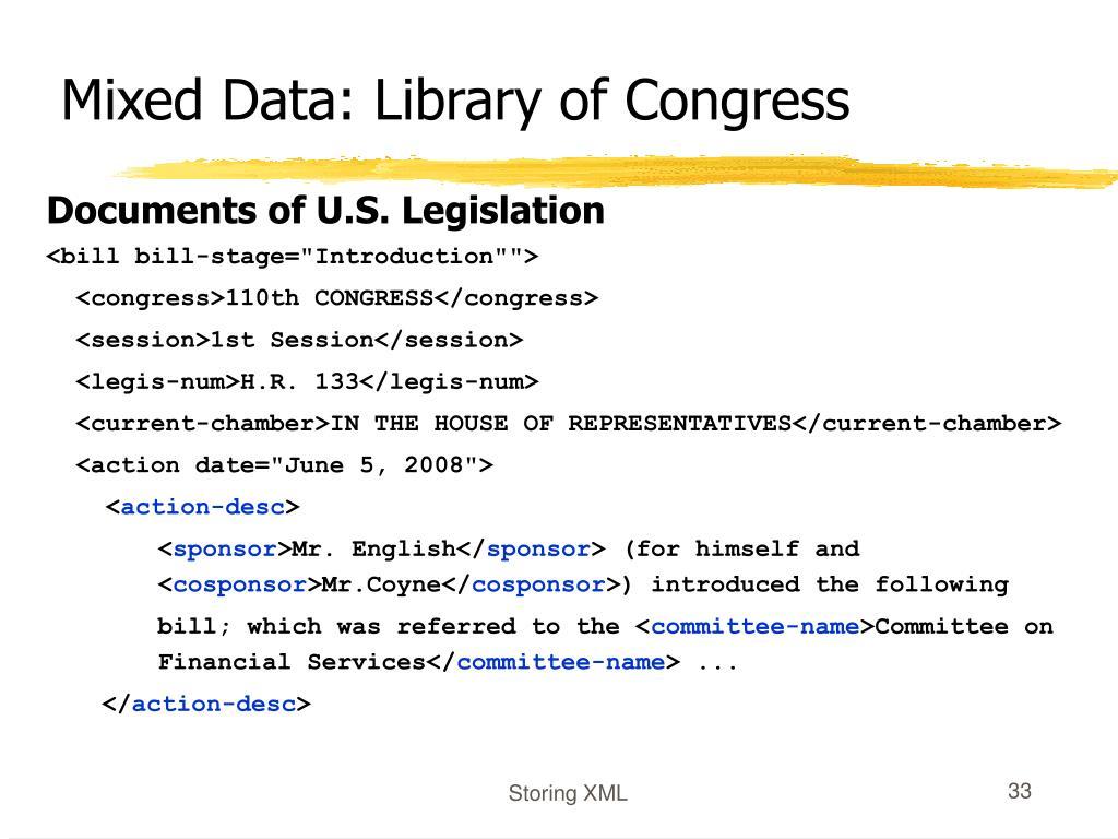 Mixed Data: Library of Congress