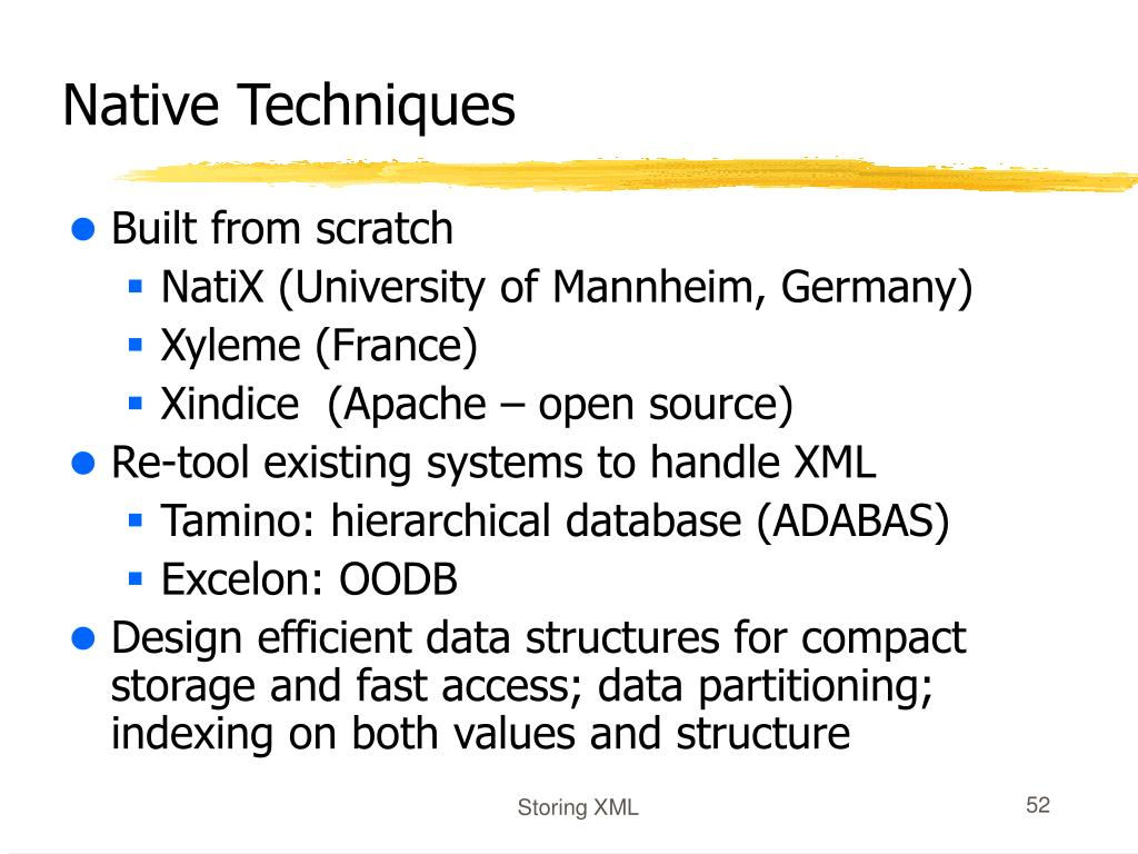 Native Techniques
