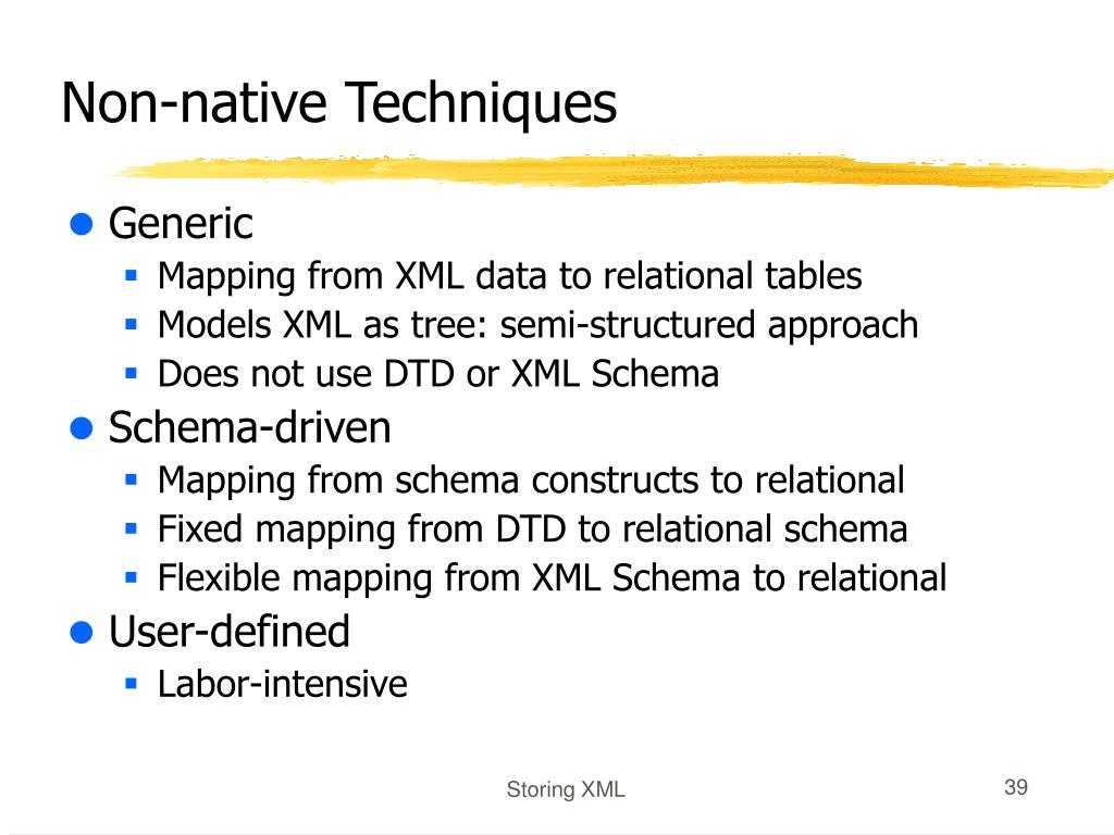 Non-native Techniques