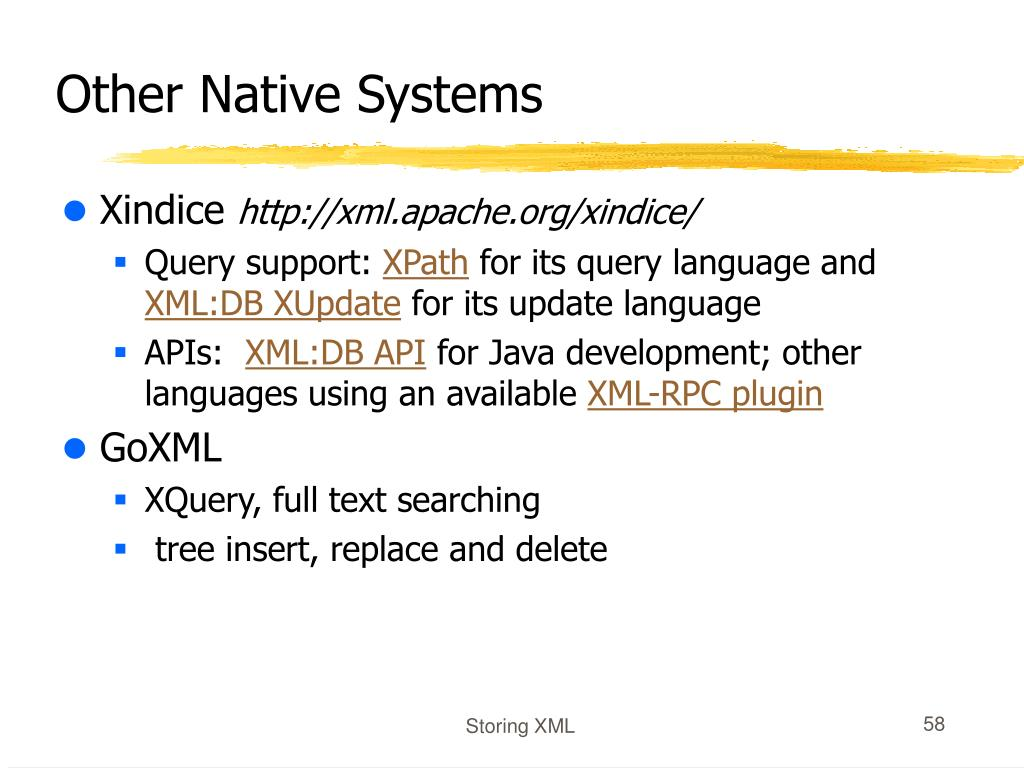 Other Native Systems