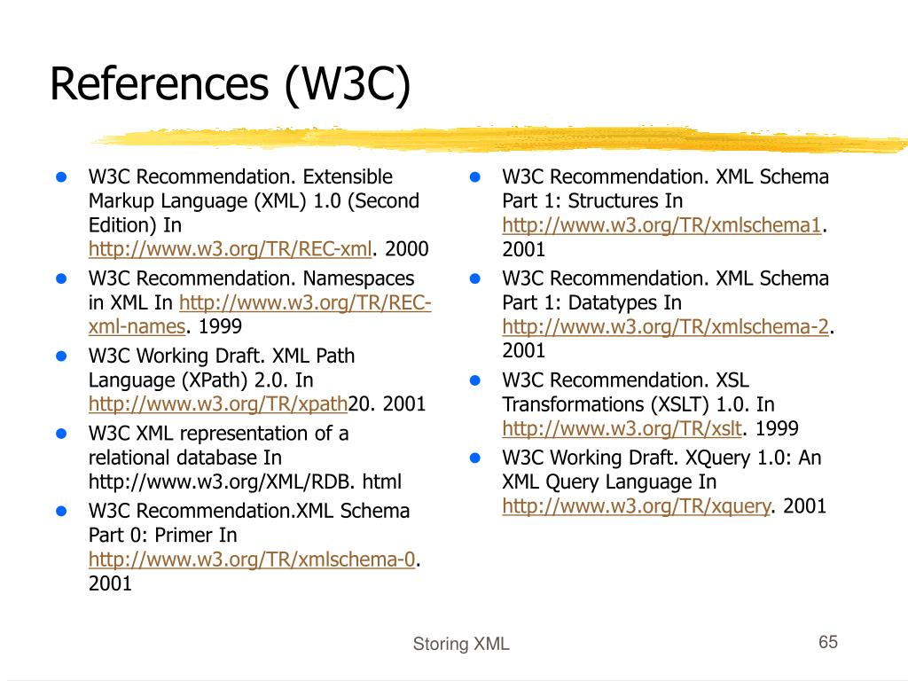 W3C Recommendation. Extensible Markup Language (XML) 1.0 (Second Edition) In