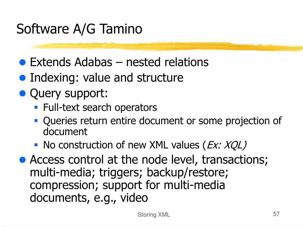 Software A/G Tamino