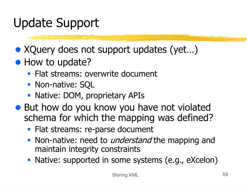 Update Support