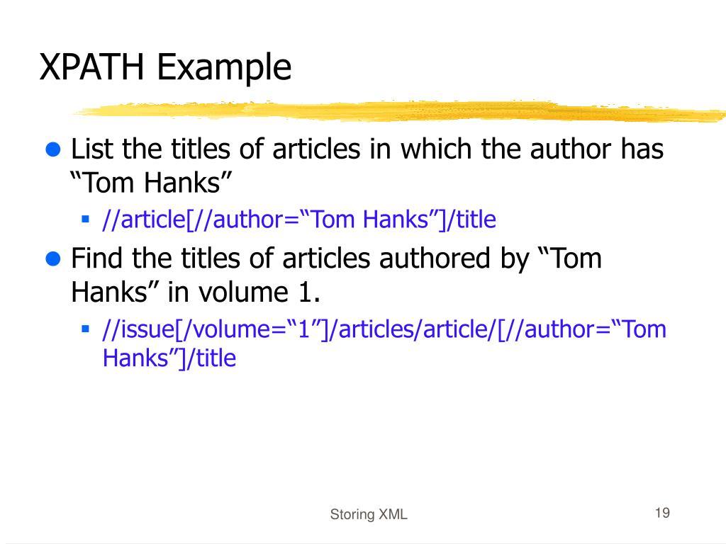 XPATH Example