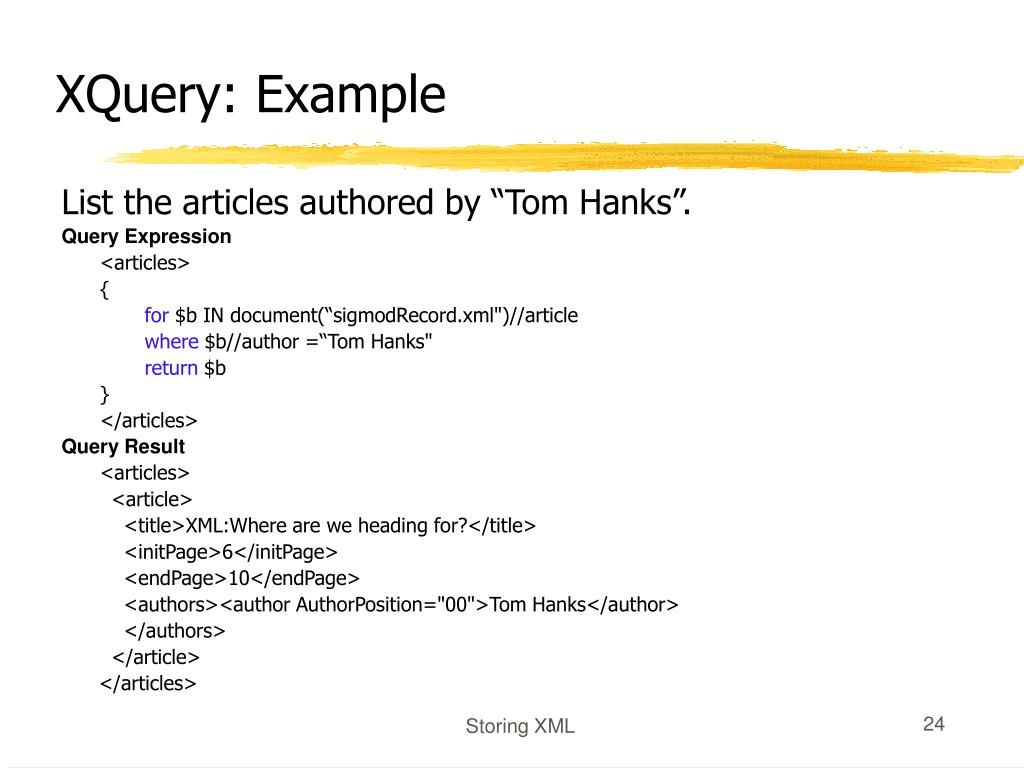 XQuery: Example