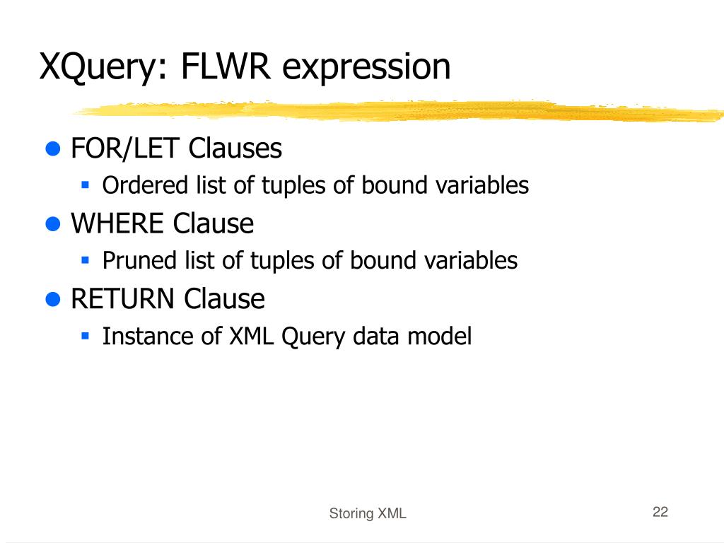 XQuery: FLWR expression
