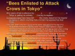 bees enlisted to attack crows in tokyo
