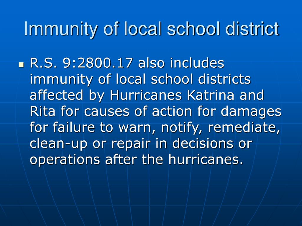 Immunity of local school district