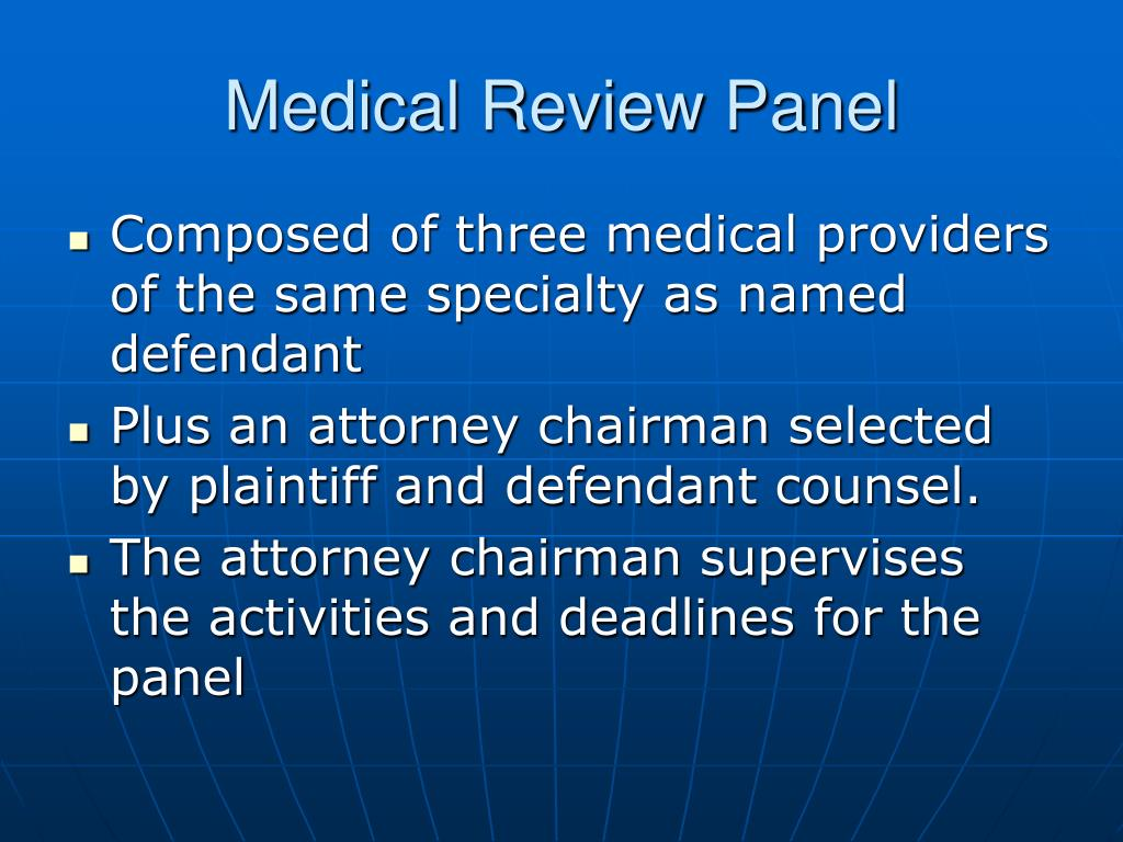 Medical Review Panel