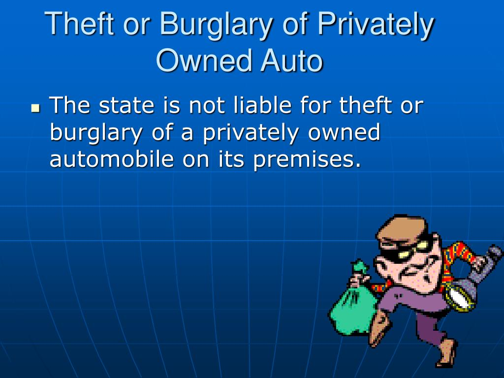 Theft or Burglary of Privately Owned Auto