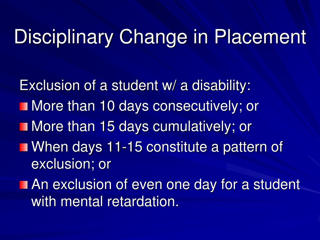 Disciplinary Change in Placement