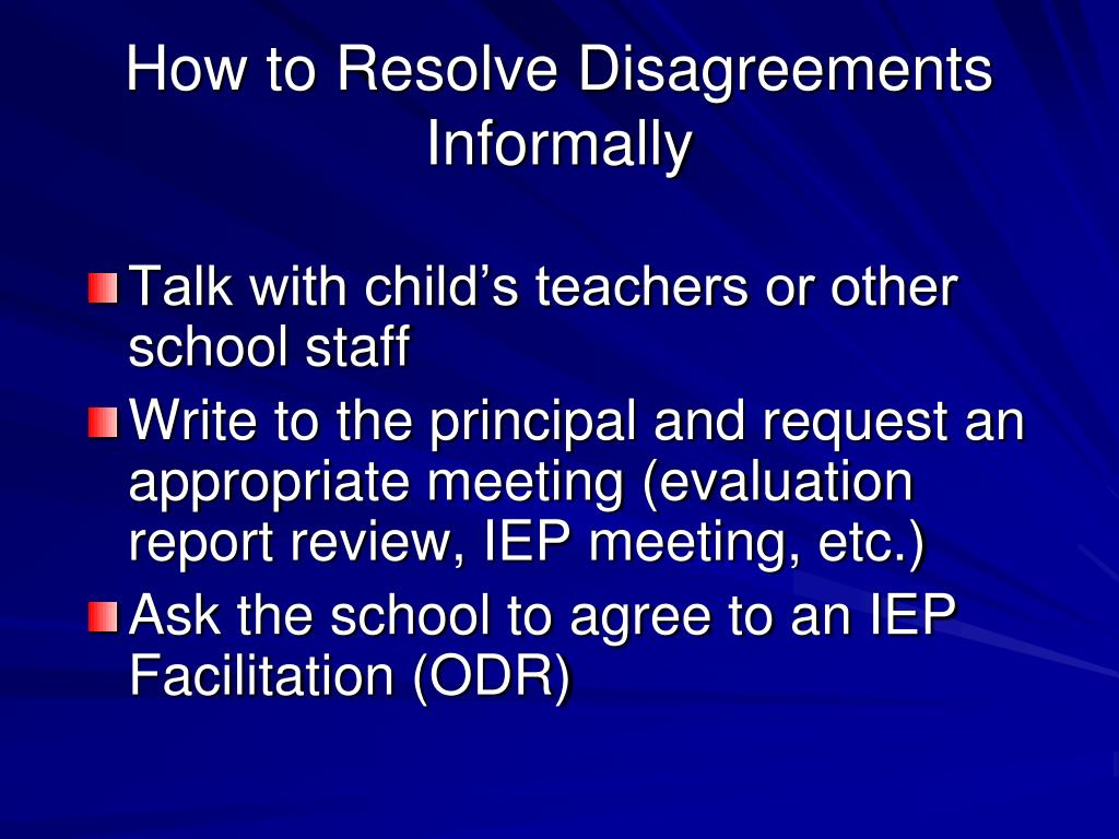 How to Resolve Disagreements Informally