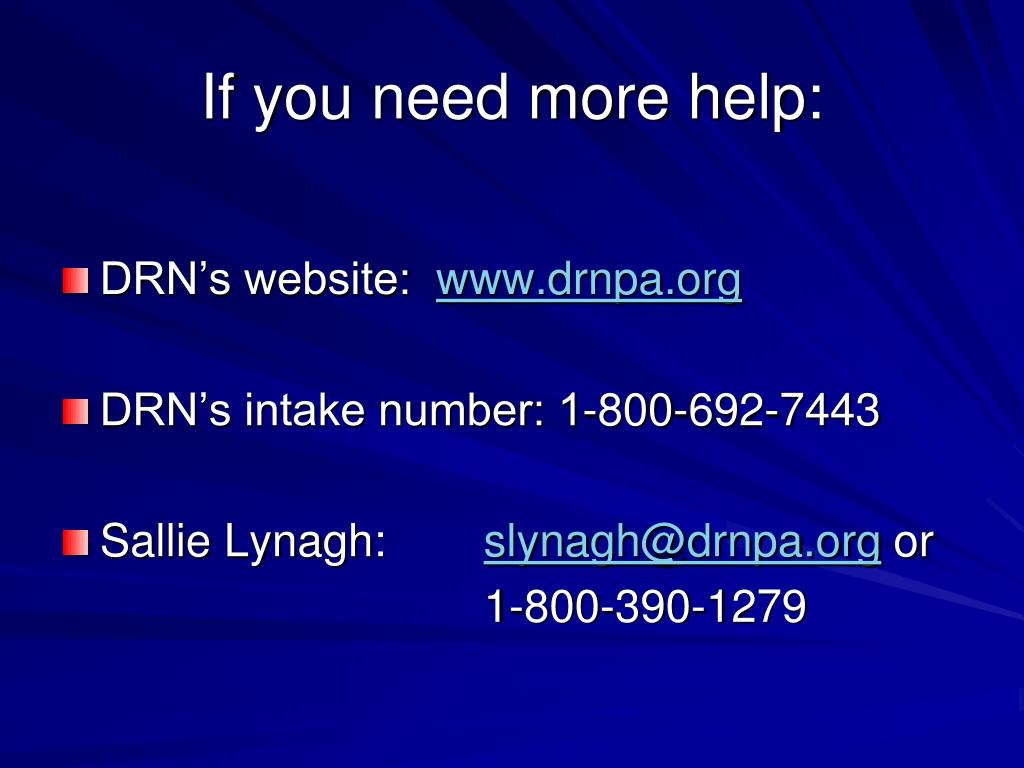 If you need more help: