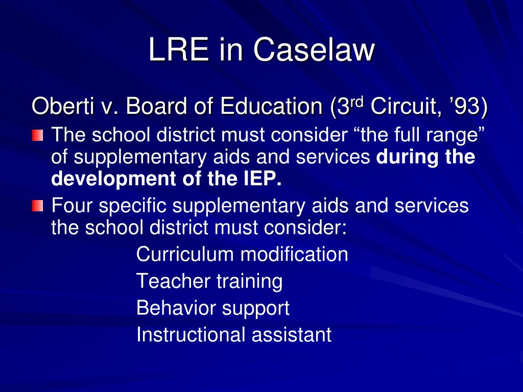 LRE in Caselaw