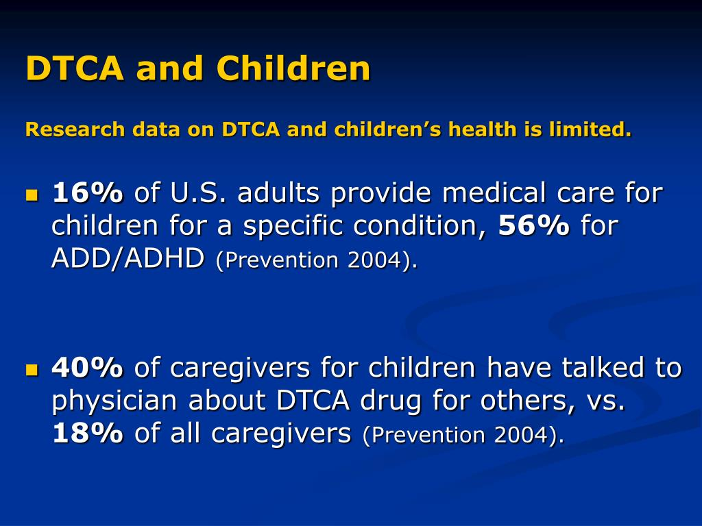 DTCA and Children