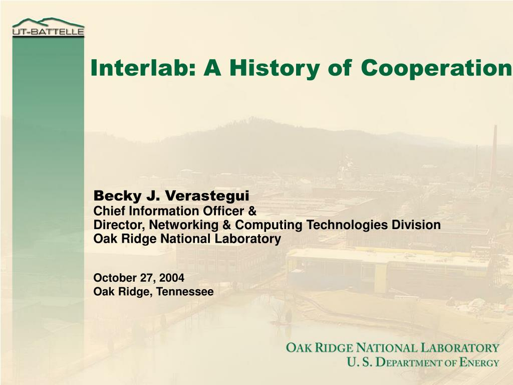 Interlab: A History of Cooperation