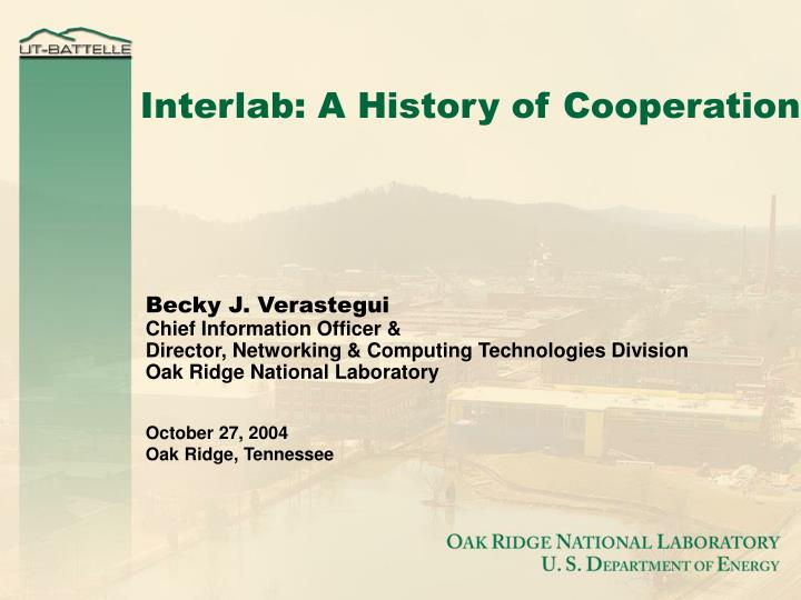 Interlab a history of cooperation