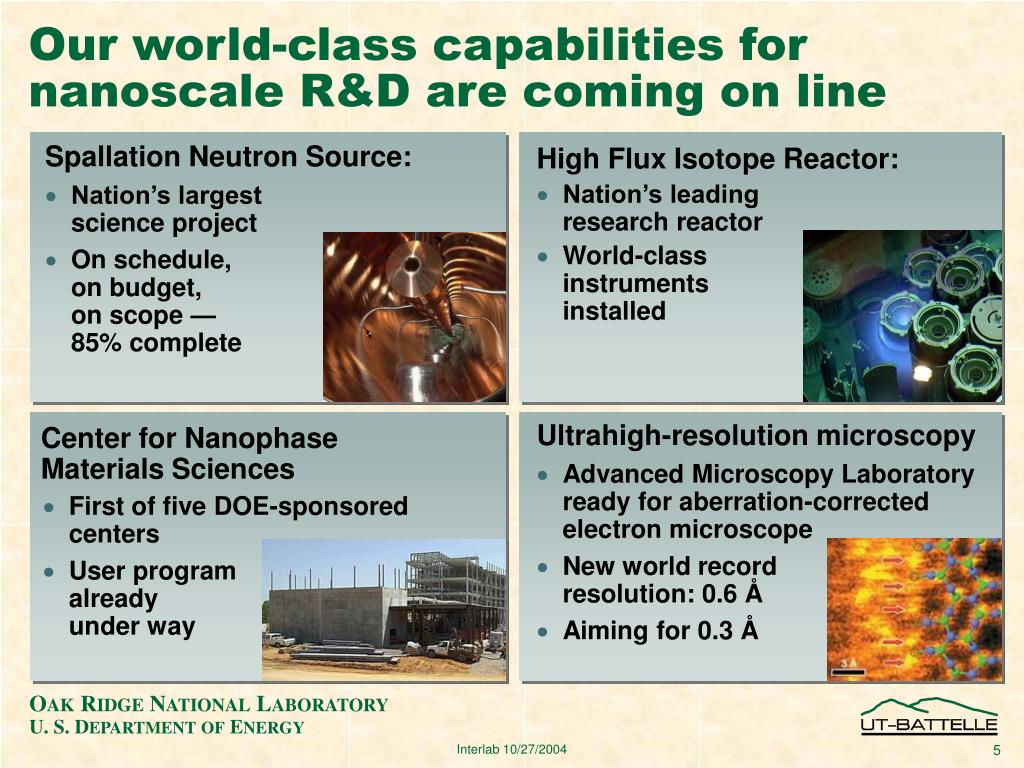 Our world-class capabilities for nanoscale R&D are coming on line