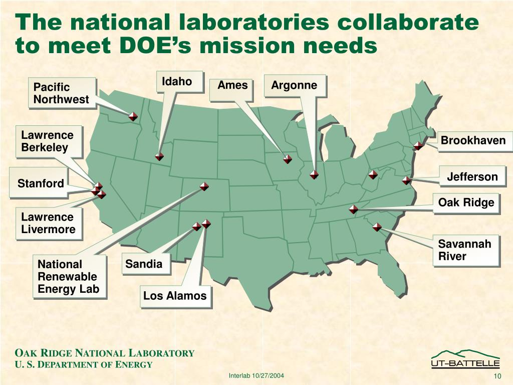 The national laboratories collaborate