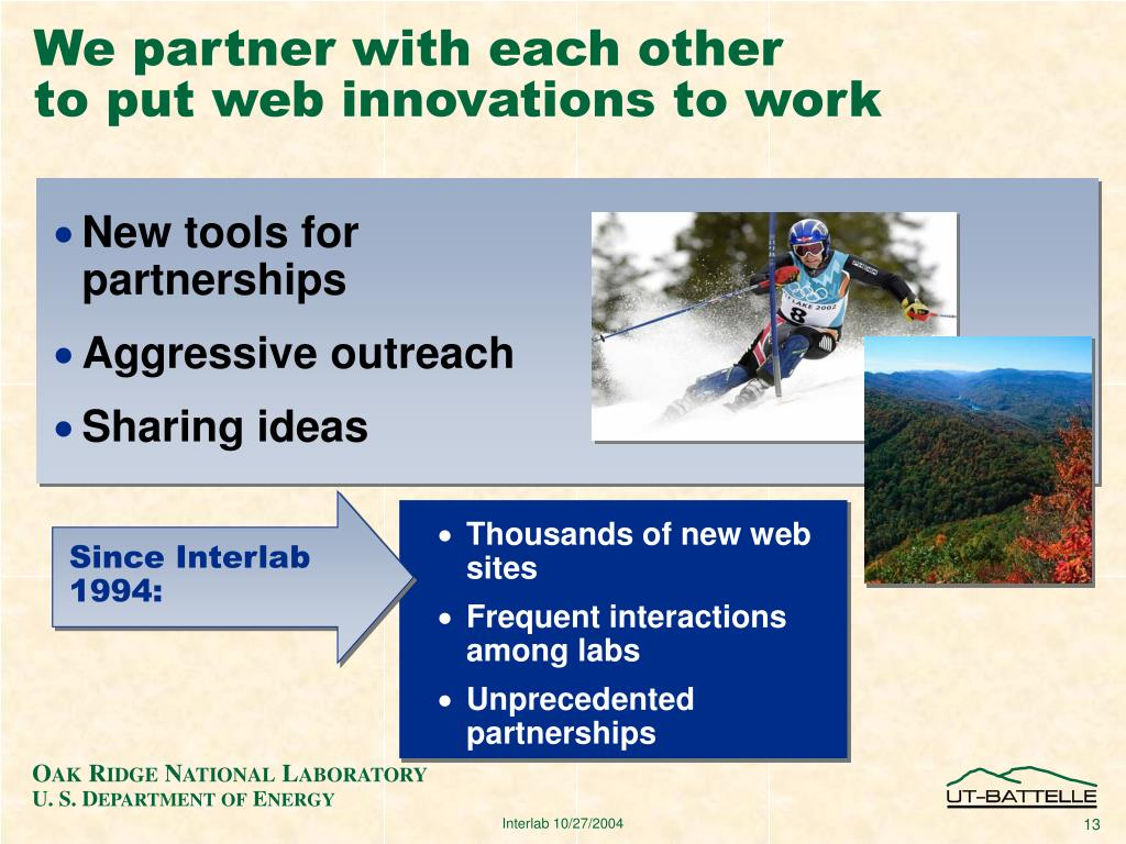 We partner with each other
