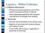 logistics within california