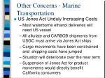 other concerns marine transportation