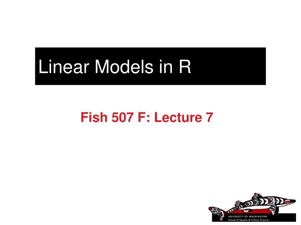 linear models in r l.