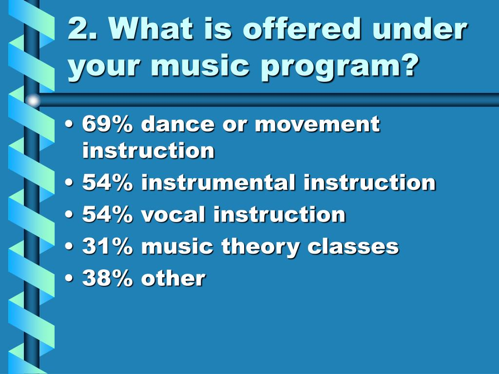 2. What is offered under your music program?