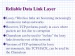 reliable data link layer