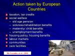 action taken by european countries