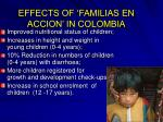 effects of familias en accion in colombia