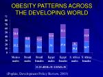 obesity patterns across the developing world