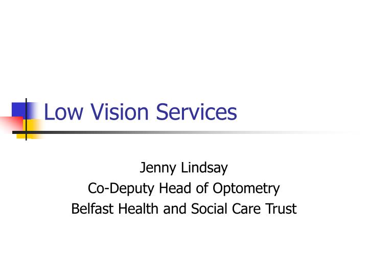 Low vision services