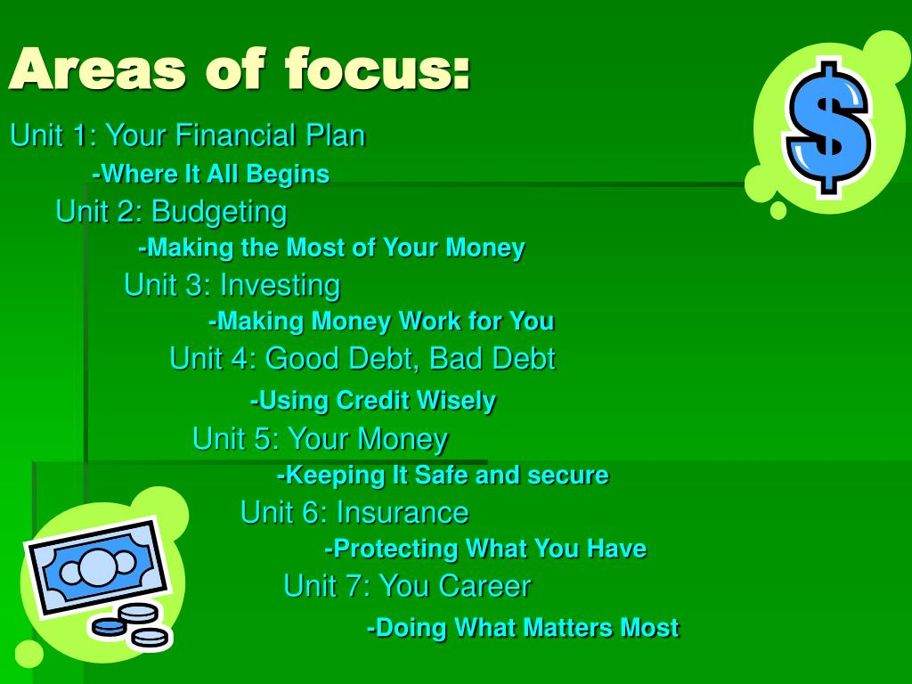 Areas of focus: