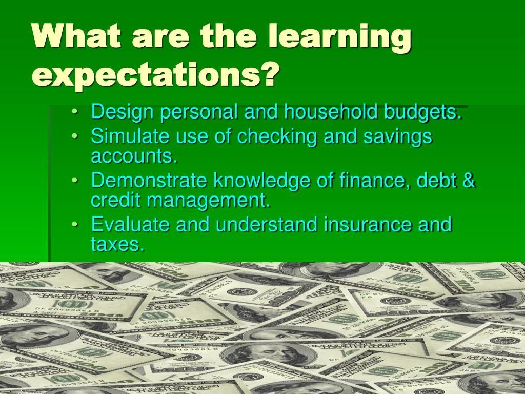 What are the learning expectations?