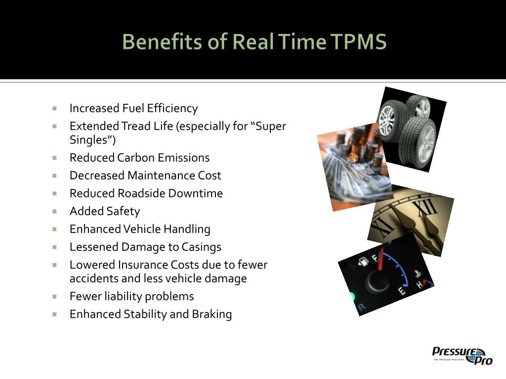 Benefits of Real Time TPMS