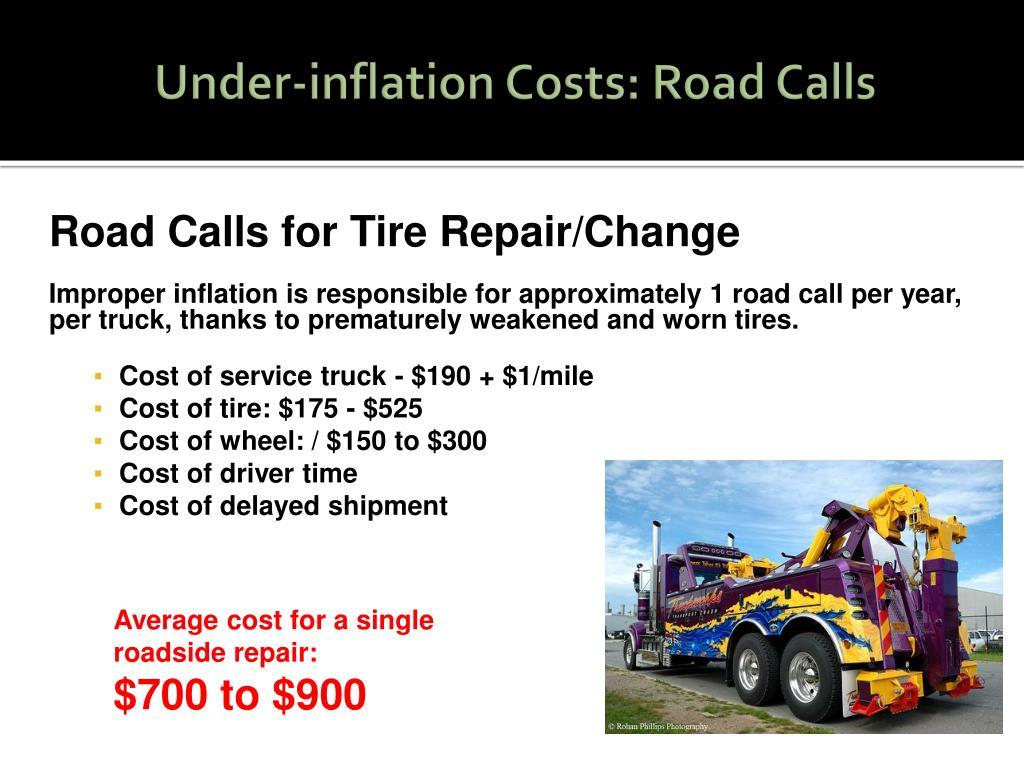 Under-inflation Costs: Road Calls