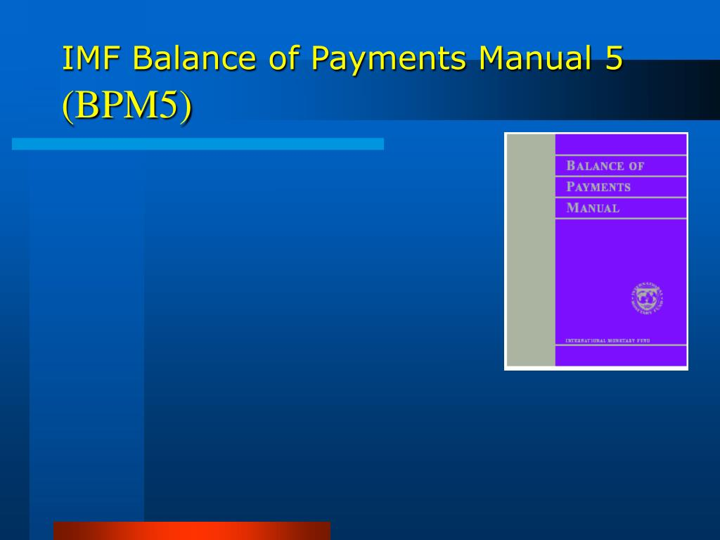 IMF Balance of Payments Manual 5
