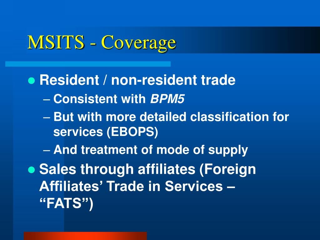 MSITS - Coverage