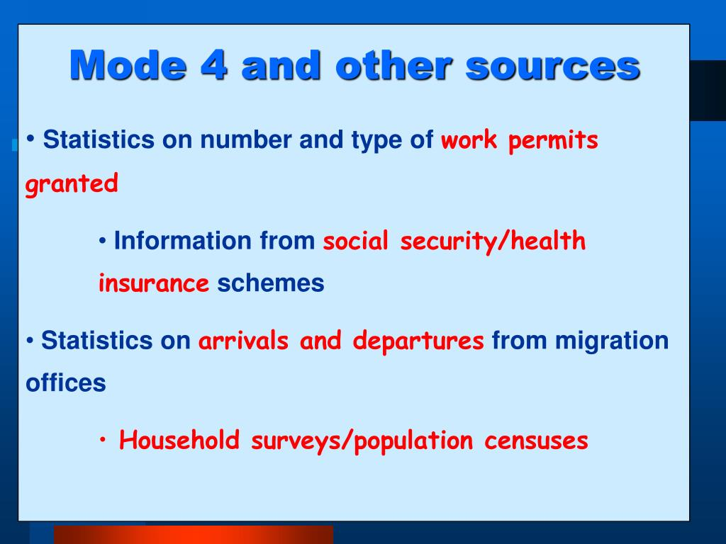 Mode 4 and other sources