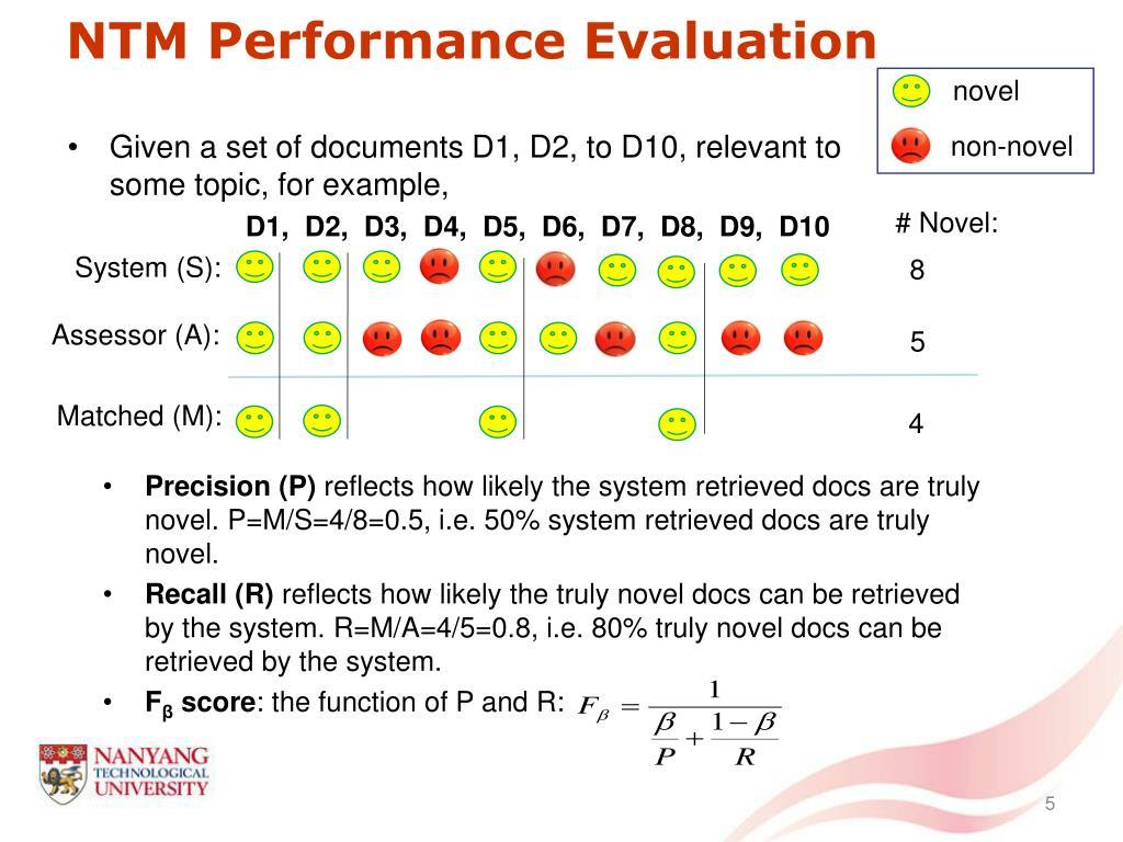NTM Performance Evaluation