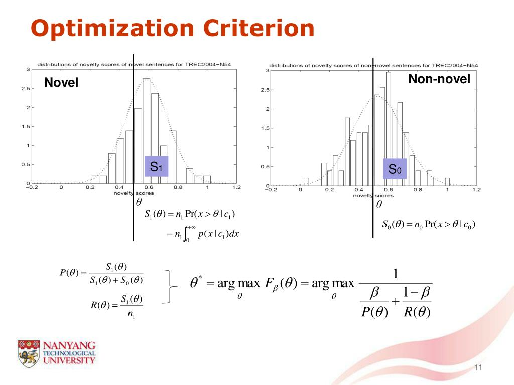 Optimization Criterion