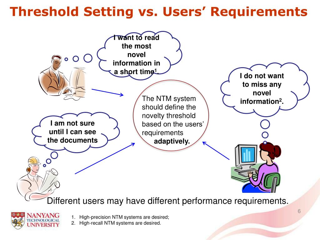 Threshold Setting vs. Users' Requirements