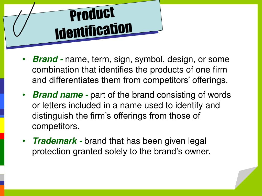 Product Identification