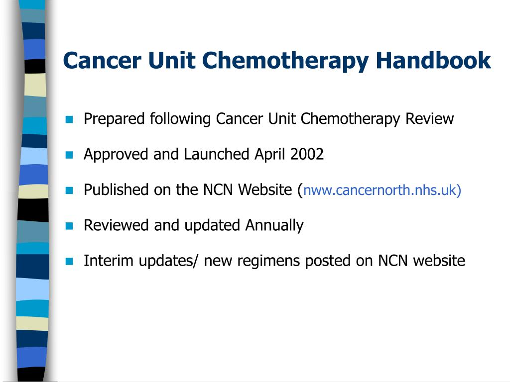Cancer Unit Chemotherapy Handbook
