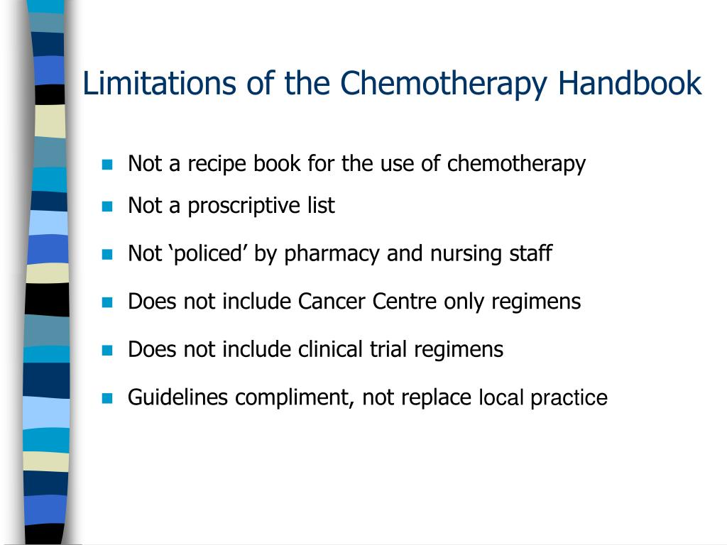 Limitations of the Chemotherapy Handbook
