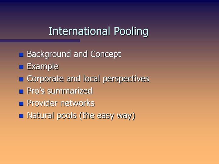 International pooling2